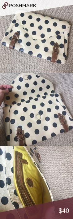 Anthropologie Polka Dot Clutch Anthropologie Polka Dot Clutch - lightly used Anthropologie Bags Clutches & Wristlets