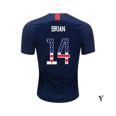 a11dfdffc5b 2018 Morgan Brian Youth Jersey Away USA Independence Day Soccer City