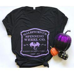 Maleficent's Spinning Wheel Co Vneck Tee, Metallic Shimmer Disney Shirts, Disney Outfits, Disney Fashion, Cute Shorts, T Shirt Diy, Maleficent, Disneybound, Disney Style, V Neck Tee