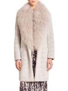 Elizabeth And James Fur-trim Coat