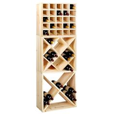 CUBE 52 wine rack system,untreated wood