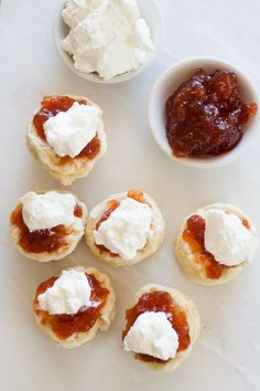 English Scones - also known as Devonshire Scones - are wonderful served warm with jam and cream.