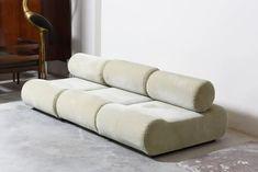 "Organic Sculptural ""Corbi"" Modular Seating System Designed by Klaus Uredat, 1972 at 1stDibs Modern Sofa, Mid-century Modern, Modern Decor, Plastic Rocking Chair, Kitchen Sofa, Daybed Design, Upholstered Ottoman, Organic Modern, Home Furniture"