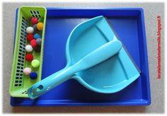 LaCatalane à la maternelle...: Atelier autonome : utiliser une balayette et une pelle (EMO)
