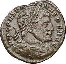 Constantine I the Great Ancient Roman Coin Sol with globe Sun God Cult i40826 https://trustedmedievalcoins.wordpress.com/2016/06/29/constantine-i-the-great-ancient-roman-coin-sol-with-globe-sun-god-cult-i40826/