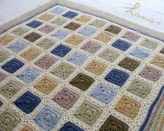 Lanas de Ana: Crochet granny square Blanket: Alpaca Squares