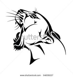 Google Image Result for http://image.shutterstock.com/display_pic_with_logo/760834/760834,1328540035,2/stock-vector-isolated-panther-head-tribal-tattoo-vector-94658227.jpg