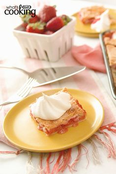 Strawberry-Rhubarb Slab Pie #recipe
