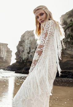 Crochet #bohemian wedding dress by Rue de Seine bridal