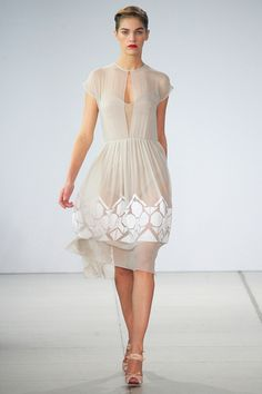 Possible wedding inspiration neckline and etherealness coupled with  beading.  Phew!