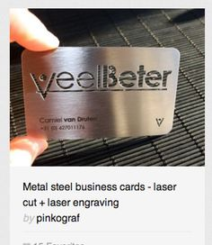 21 ingeniosos diseos de tarjetas de presentacin origami metal business cards realized with stainless steel thickness mm options laser cutting laser engraving size x cm colourmoves