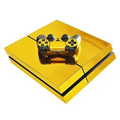 YOKEY Gold Decal Sticker Skin for Playstation 4 PS4 Console and Controllers YOKEY