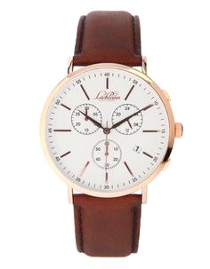 Lachlann Första LF-02 Brown Strap Chronograph, Watches, Brown, Leather, Accessories, Collection, Black, Style, Fashion