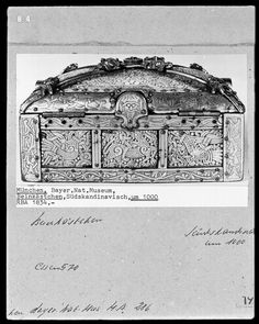 The Bamberg Casket, (jewelry-box of Queen Kunigunde), ivory and gilt bronze, Mammen style carvings, c. 975AD, found in a Bavarian church
