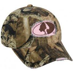 Casquette femme Mossy Oak Pink :  - Taille unique - Camouflage Mossy Oak Break up Infintiy ® sur la casquette et logo Mossy Oak rose - Languette de réglage à l'arrière