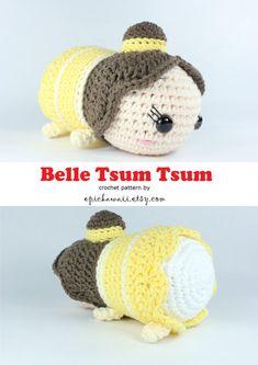 PATTERN: Belle Tsum Tsum Crochet Amigurumi Doll by epickawaii