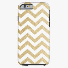 Cute iPhone 6 Case! This Chevron Gold Faux Glitter Phone Case iPhone 6 Case can be personalized or purchased as is to protect your iPhone 6 in Style!
