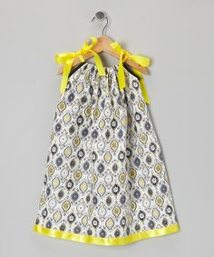 Look at this #zulilyfind! Yellow & Black Flower Swing Dress - Infant, Toddler & Girls by Cozy Bug #zulilyfinds