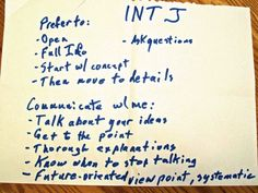 INTJ+Thought+Process | INTJ Communication Highlights