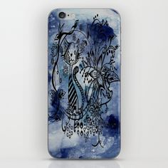 Abstract Acrylic Painting CAT ILLUSTRATION I iPhone & iPod Skin