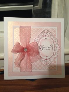 Sue wilson die card creative expression die and memory box stencil with distress ink. To a special friend card Buy my cards at https://www.facebook.com/createdwithlovebysophiejane?ref=ts&fref=ts