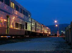 Amtrak's Empire Builder in Wenatchee, Washington.