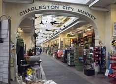 City Market, Charleston, South Carolina.  The building was undergoing renovations while we were there, but it was a great place to shop.