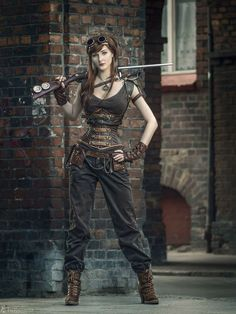 60 Best Steampunk Costume Ideas for Your Adventure Time - Enjoy Your Time; I've discovered I love Steampunk. There needs to be more of this in my future. Steampunk Cosplay, Chat Steampunk, Viktorianischer Steampunk, Steampunk Clothing, Steampunk Costume Women, Steampunk Fashion Women, Steampunk Outfits, Steampunk Necklace, Female Fashion