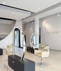 Salon Lighting, Beauty Salon Decor, Barber Shop, Oversized Mirror, Salons, Public, Van, Concept, Interiors
