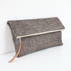 The Sydney Clutch in Charcoal by Brighter Day.