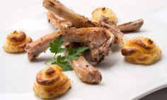 Receta de Chuletillas de cordero con patatas duquesa
