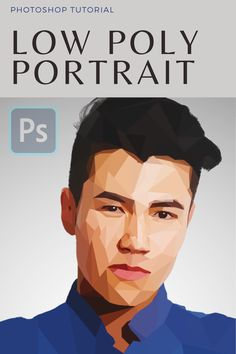 Adobe Photoshop tutorial on how to turn regural photo into low poly portrait. Photoshop Tutorial, Photoshop Youtube, Adobe Photoshop, Low Poly, Three Dimensional, Your Photos, Portrait, Movie Posters, Fictional Characters