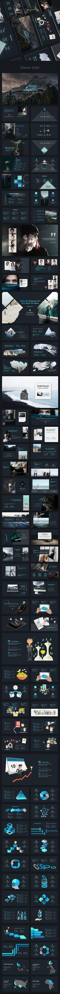 Toxic V2 Creative Powerpoint Template - Creative #PowerPoint Templates