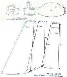 free printable regency dress patterns - Bing Images