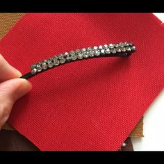 """Beautiful rhinestone hair clip This elegant hair piece is filled with clear rhinestones and has a gorgeous curve! It will rest beautifully on your hair.  Approximately  3.5"""" long  0.25"""" wide. ✨✨✨ Sparkles goes with many styles! Accessories Hair Accessories"""