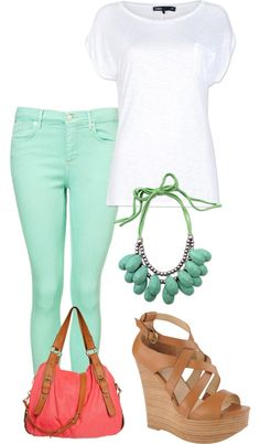 Spring and Summertime use of my mint pants