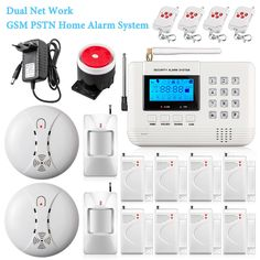 Wireless 433mhz Dual-Network PSTN GSM Alarm System Home Burglar Security Fire Alarm Wireless Smoke Detector Sensor -*- AliExpress Affiliate's buyable pin. Item can be found  on www.aliexpress.com by clicking the image