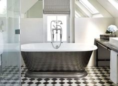 Two attic rooms turned into a contemporary bedroom and ensuite  - housebeautiful.co.uk