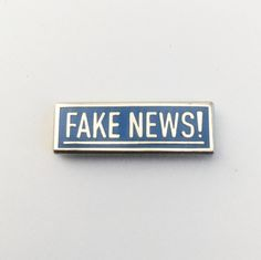 pinlord — Fake News! Enamel Pin | .75 inch, hard enamel, limited run, not an alternate fact...