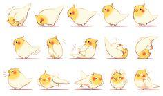 Cutie Cockatiel - it does a little back roll, awww! || #cockatiel #cute…
