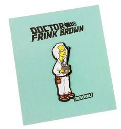 "Image of Professor ""Frink"" Brown Soft Enamel Pin"