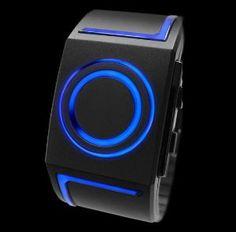 "Kisai 7 LED Watch....How very ""TRON"". Love it!"