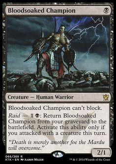 $2.99 AUD - Bloodsoaked Champion Nm Mtg Khans Of Tarkir Black - Human Warrior Rare #ebay #Collectibles