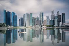 Singapore Skyline. Singapore`s business district, Marinabay and city scape in day time...