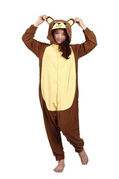 WOTOGOLD Animal Cosplay Costume Bear Men Women Pajamas Brown L *** More info could be found at the image url-affiliate link. #Onesies