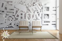Wnętrza, Fototapety 3D - Typografia - Fototapeta 3D od LemonRoom