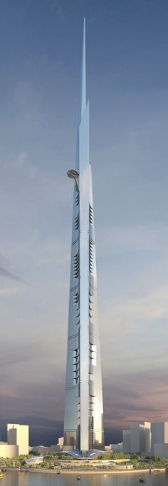 Kingdom Tower, Jeddah, Saudi Arabia designed by Adrian Smith + Gordon Gill Architecture :: 167 floors, height 1000m :: under construction