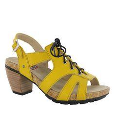 Look at this #zulilyfind! Yellow Lion Leather Sandal #zulilyfinds
