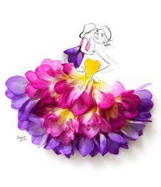 hadas con vestidos con flores - Buscar con Google