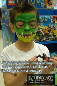 face painting crocodile Game Lego Chima